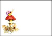 Mushroom and snail - envelope (C6) #1