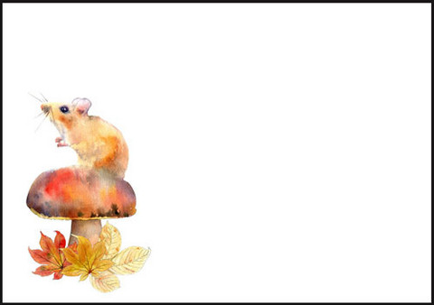 Mushroom and mouse - envelope (C6) #1