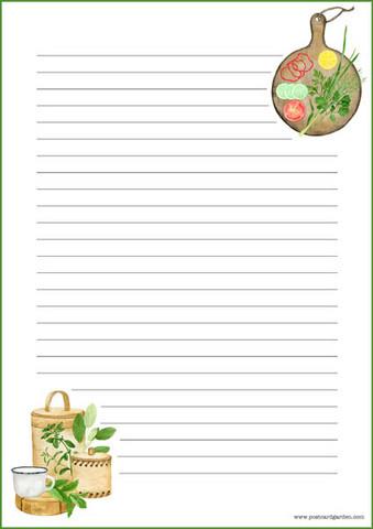 Keittiötarvikkeita - kirjepaperit (A4, 10s) #1