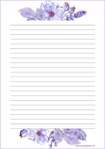 Violetit kukat - kirjepaperit (A4, 10s) #1