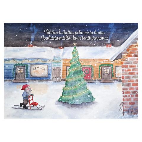 Joulukortti - Tontun joulu #3