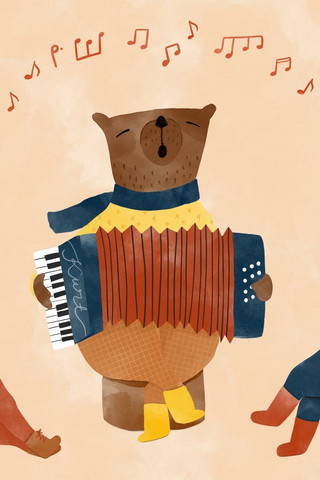 Tuuliamoods - Bear and accordion
