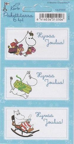 Moomin- Christmas stickers (2 sheets)