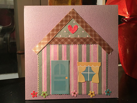 Handmade card - New home