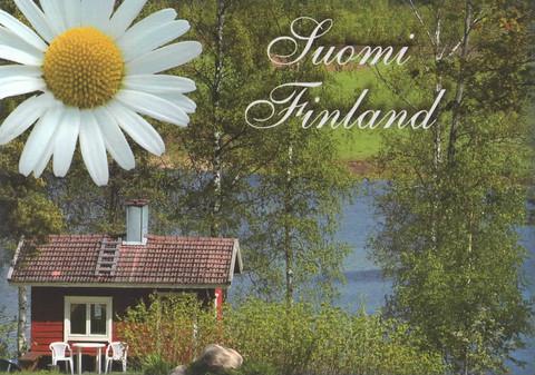 Suomi Finland - punainen mökki