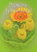 Easter greetings little chicks
