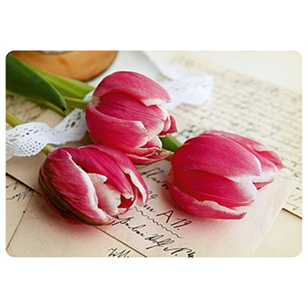 Tulips and letter