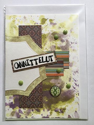Handmade card Gongrats #8