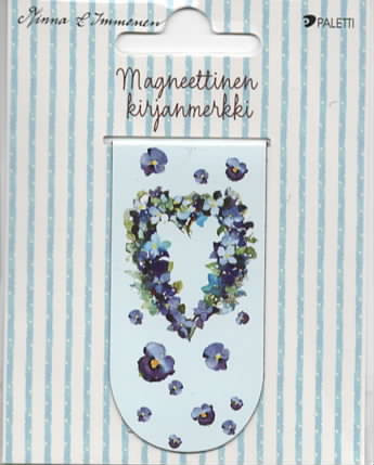 Minna Immonen - Pansy wreath (magnetic bookmark)