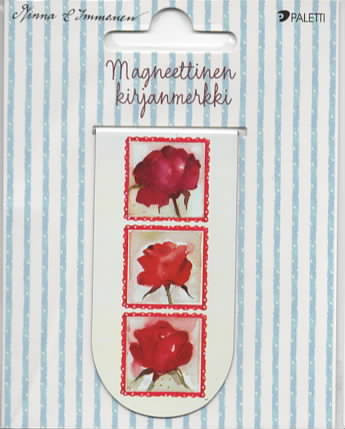 Minna Immonen - Red roses (magnetic bookmark)