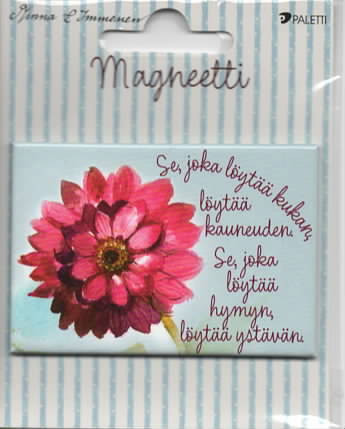 Minna Immonen - The one who finds a flower (magnet)