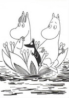 Black and white Moomins - Sailors