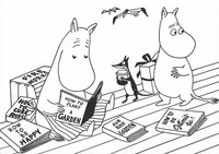 Black and white Moomins - Readers