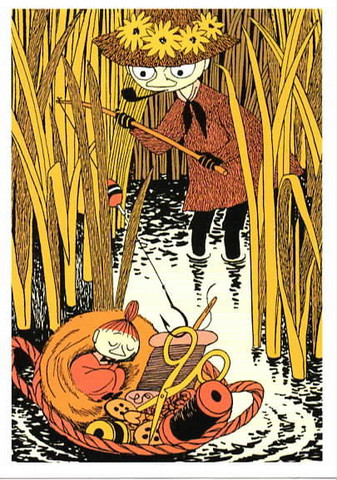 Snufkin fishing