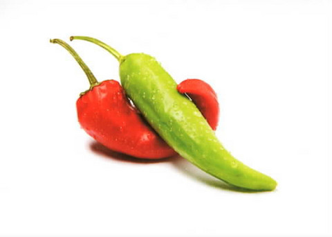 Red and green pepper
