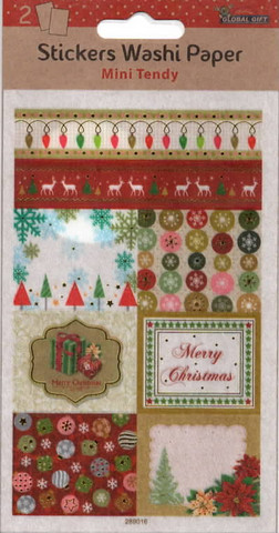 Washi chirstmas -stickers (2 sheets, 10x16cm)