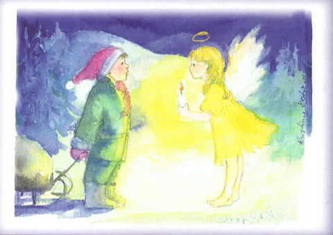 Christmas postcard - Who are you