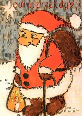 Joulukortti - Joulupukki