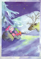 Christmas postcard - A little rest