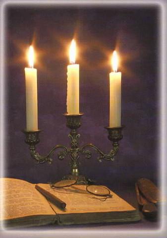 Joulukortti - Kynttilät