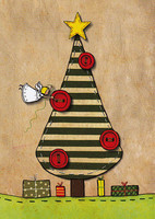 Angel and X-mas tree