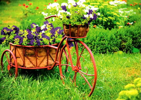 Bicycle flower stand