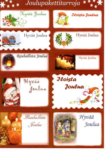 Cristmas present stickers #5