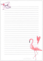 Flamingo - writing papers (A5, 10s)