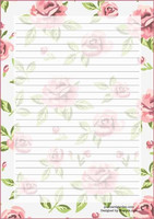 Roses - writing papers (A5, 10s) #1