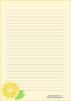 Lemon - writing papers (A5, 10s)