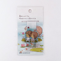Magnetic bookmark - Amy&Tim #10