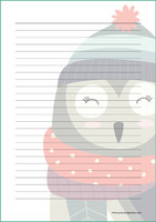 Big owl - writing papers (A5, 10s)