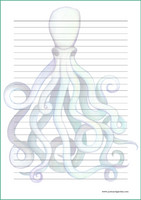 Octopus - writing papers (A4, 10s)