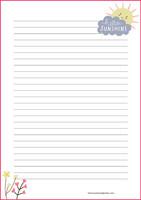 Hello sunshine -kirjepaperit (A4, 10s)