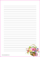 Easter basket - writing papers (A4, 10s)