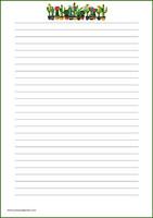 Kaktukset -kirjepaperit (A4, 10s) #1