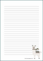 Alpaca - writing papers (A5, 10s) #1