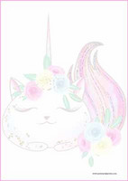 Caticorn - writing papers (A5, 10s) #2