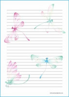 Dragonflies - writing papers (A5, 10s)