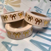 Washi tape - Foiled bows (1.5cm x 10m)