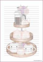 Kahvitarjoilu - kirjepaperit (A4, 10s) #1