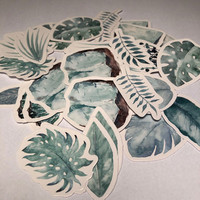Sticker box - Leaves (45 stickers)
