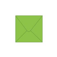 Solid color square envelope 14.4x14.4cm - light green