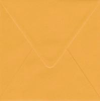 Solid color square envelope 14.4x14.4cm - dark yellow