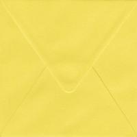 Solid color square envelope 14.4x14.4cm - yellow