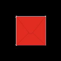 Solid color square envelope 14.4x14.4cm - red