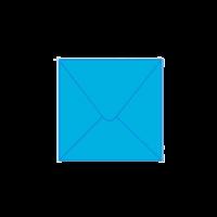 Solid color square envelope 14.4x14.4cm - blue