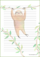 Sloth - writing papers (A4, 10s) #2