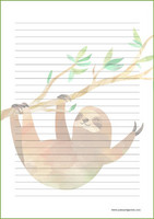 Sloth - writing papers (A5, 10s) #3
