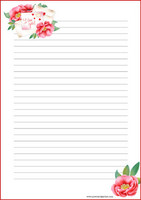 Love letter - writing papers (A4, 10s)